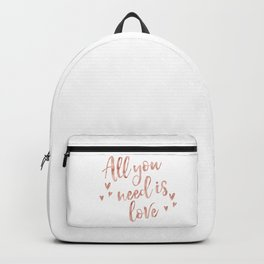 All you need is love - rose gold and hearts Backpack