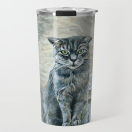 Cat on a Fence Travel Mug