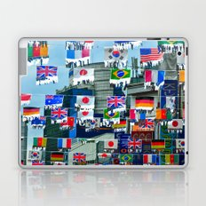 Flags in a Korean Marketplace Laptop & iPad Skin