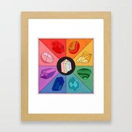 Crystal Color Wheel Framed Art Print