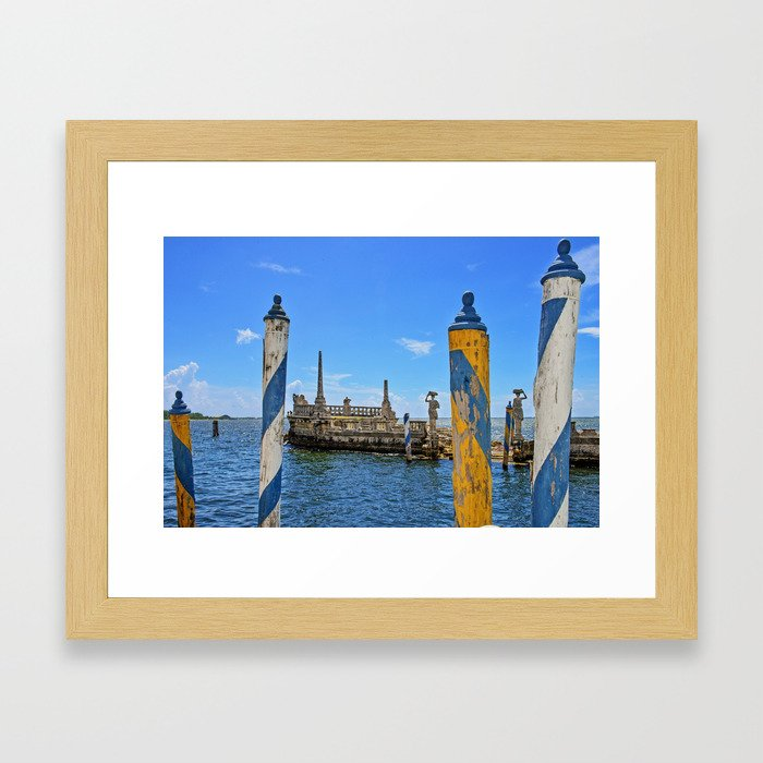 Vizcaya Barge Adventures Framed Art Print