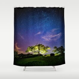 Galaxy Dreams of an Earthling Shower Curtain