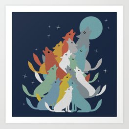 A Pack of Wolfs Art Print