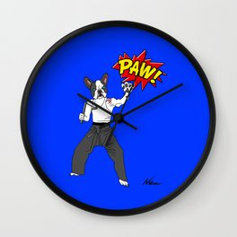 PAW POW - Kungfu Dog Wall Clock