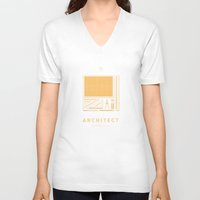 architect V-neck T-shirts featuring #WorkerEssentials - Architect by EHILAB
