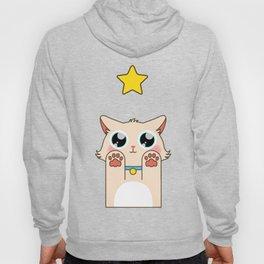 Cream Pastel Cat Hoody