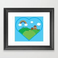 We Love This Place Framed Art Print