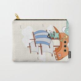 Dinosaur on a ship Carry-All Pouch
