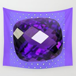 LILAC PURPLE AMETHYST FACETED GEM BIRTHSTONE ART Wall Tapestry
