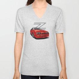 Daytona Turbo Z / CS - Red T-top Unisex V-Neck