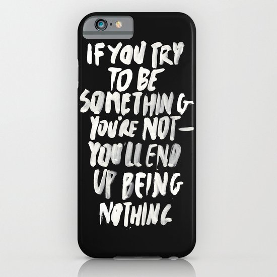 Being Nothing iPhone & iPod Case