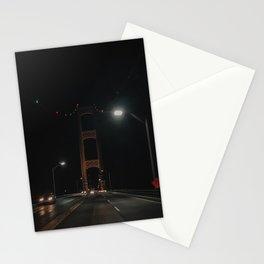 The Mackinac Bridge at Night Stationery Cards