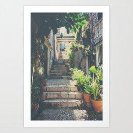 the prettiest of stairs ... Art Print