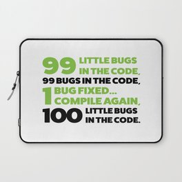 Little bugs in the code Laptop Sleeve
