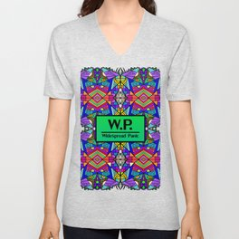WP - Widespread Panic - Psychedelic Pattern 2 Unisex V-Neck
