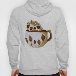 Hedgehog in a Cup Painted with Coffee Hoody