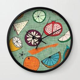 Pop Fruit Green Wall Clock