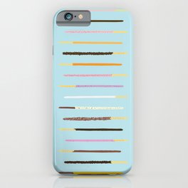 21 Flavors of Pocky - blue iPhone Case