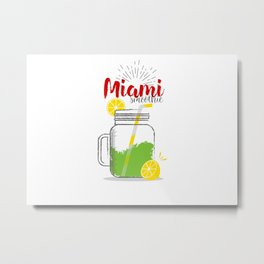 Miami: Summer, sun, sea & smoothies Metal Print