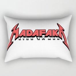 Thrash Metal Kill em all Parody Pew pew Madafaka Rectangular Pillow