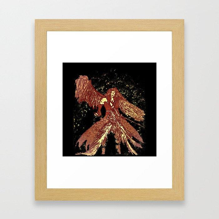 one winged angel Framed Art Print
