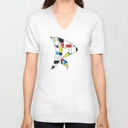 Mondrian Mod Unisex V-Neck