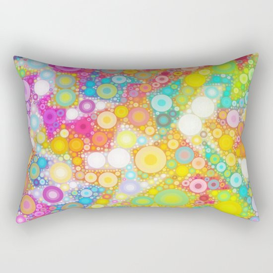 Sunny Bubbles on the Water Rectangular Pillow