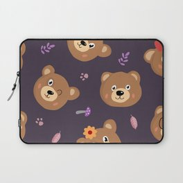 Bears & Mushrooms Pattern Laptop Sleeve