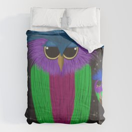 The Prismatic Crested Owl Comforters