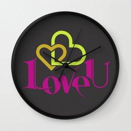 Love U Wall Clock