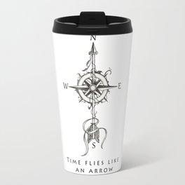 Time flies like an arrow (tattoo style) Travel Mug