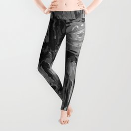 Lady Apricot Black and White Leggings