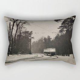forest tram Rectangular Pillow