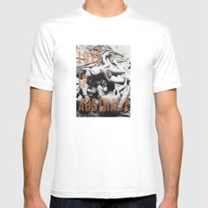 Love Is Abstract White Mens Fitted Tee MEDIUM