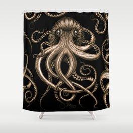 Bronze Kraken Shower Curtain