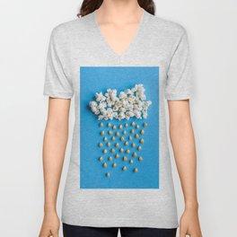 Popcorn Cloud Large l Food Photography Unisex V-Neck