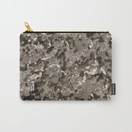 Realistic Urban Clay Brown 3D Camo Pattern Carry-All Pouch