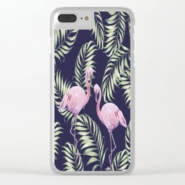 Flamingos #society6 Clear iPhone Case