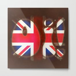 Oi - Union Jack Metal Print