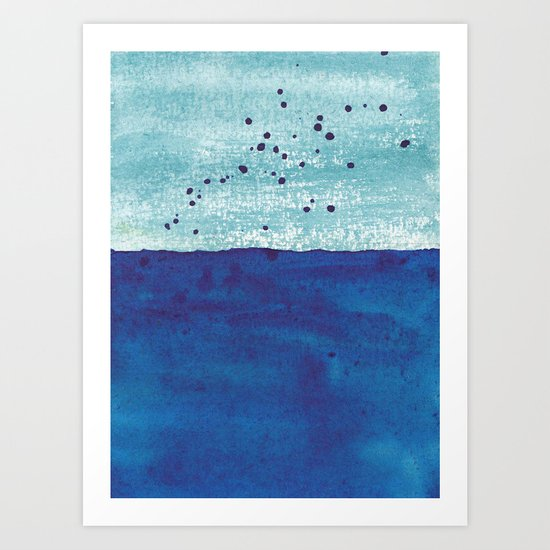 Water and Color 4 Art Print