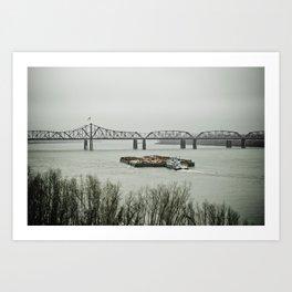 Barge Traffic II Art Print