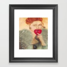 Sealed With A Kiss Watercolor Framed Art Print