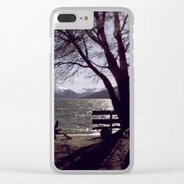 Bench and Lake Clear iPhone Case