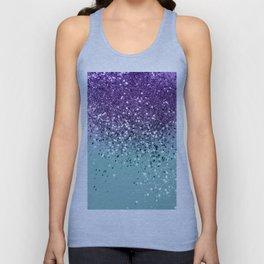 Purple Teal Mermaid Ocean Glitter #1 (Faux Glitter) #shiny #decor #art #society6 Unisex Tank Top