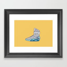 Power laces Sneakers - Back to the future series Framed Art Print