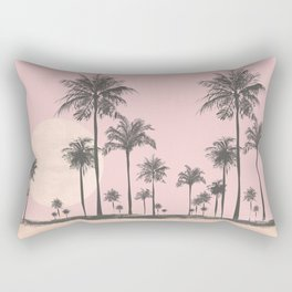 Tropical Sunset In Peach Coral Pastel Colors Rectangular Pillow