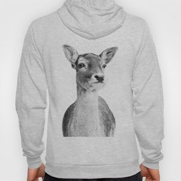 Deer Photo | Black and White Hoody