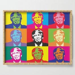 Trump Presidential Pop Art Serving Tray