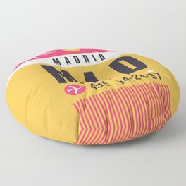 Baggage Tag A - MAD Madrid Barajas Spain Floor Pillow