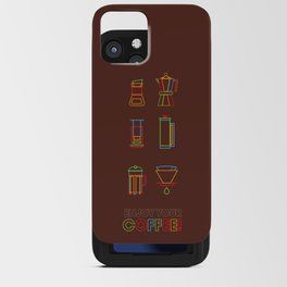 ENJOY YOUR COFFEE iPhone Card Case
